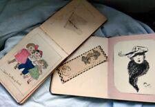 More details for   2 autograph books 1917 1920 watercolors . memories, artwork, poems edwardian