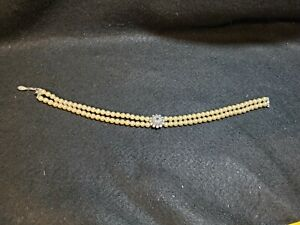 vintage Attwood  Sawyer Pearl choker necklace