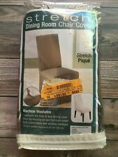 NEW Sure Fit Stretch Taupe Furniture Dining Chair Slip Cover