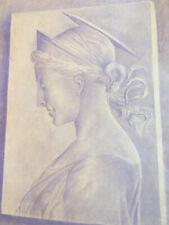 grand et beau dessin crayon 1920 portrait femme profil