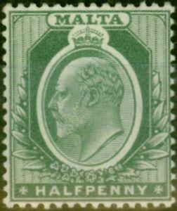 Malta 1903 1/2d Green SG38 Fine Very Lightly Mtd Mint