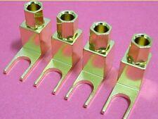 Un set di 10 banana spina / cavo per Spade Terminal Converter / ADATTATORI PER AMPERE