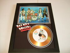 bay city rollers  SIGNED  GOLD CD  DISC  345