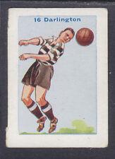 Thomson - Football Team Cards 1934 - # 16 Darlington