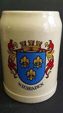 Wiesbaden Oktoberfest Mug Beer Stein West Germany Cities  Blue Crown Vintage