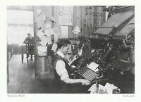 "*Postcard-""The Lodi News"" /Working on Linotye Machine/ *Lodi CA (A11)"