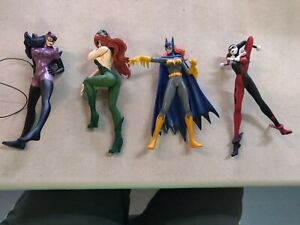 Yamato Batman Figures- Lot of 4- Poison Ivy, Batgirl, Catwoman, Harley Quinn