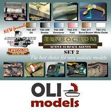 TENSOCROM SET # 2 ACTIVE SURFACE AGENTS Paint Set 6x20ml  LIFECOLOR TSC-02