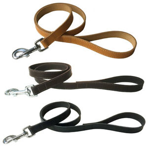"""Dog Lead  1"""" x 40""""  Real Leather Dog Lead with Chrome Trigger Hook"""