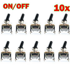 10 x SPST 2Pin Car Boat 15A 250V ON/OFF Rocker Toggle Switch+Waterproof Boot New