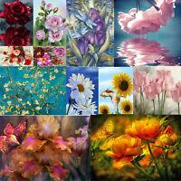 Full Drill 5D DIY Diamond Painting Flowers Cross Stitch Embroidery Mosaic Kits