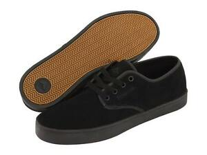 EMERICA 6101000031 004 LACED Mn's (M) Black/Black Suede Skate Shoes