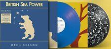 BRITISH SEA POWER LP x 2 Open Season BLUE VINYL Picture Disc - Mails SAME DAY