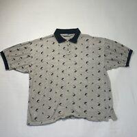 Bert Pulitzer Mens Golf Print Polo Shirt XL