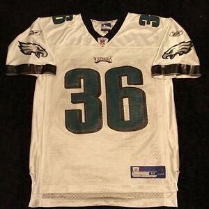 Brian Westbrook Philadelphia Eagles Jersey Sz M White Reebok NFL Football Men's