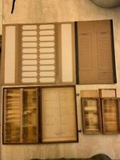 Vintage 1930s - 1950s Prepared Medical Slides - Wood Boxes - Folders