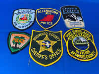 Various State Patches #38 Lot Of 6 Various Departments From United States