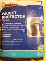 Frost King Slip-On Winter Outdoor Black Faucet Protector- Cover - Protects pipes