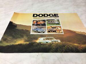 Dodge fourgon pick-up mini-bus catalogue brochure prospectus dépliant publicité