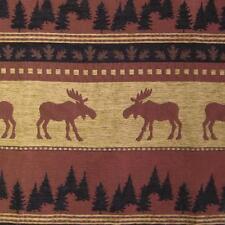 Upholstery Fabric Casco Moose Cabin Rustic Tree Log Furniture