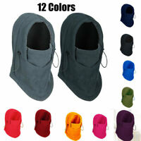 Winter Thermal Fleece Hats Ski balaclava Full Face Neck Motorcycle Mask Hood Cap
