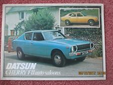 1978 DATSUN CHERRY FII F2 SALOON AUTOMATIC BROCHURE