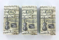 Music Pocket Tissues - Travel Tissue Packs, Lot of 3, 10 per pack, NEW by IHR