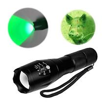 Green Light LED Flashlight Zoomable Green Plants Growth LED Hunting Light Torch