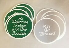 Christmas Look Like Cocktails Get Blitzened Coaster Set Funny Friend Office Gift