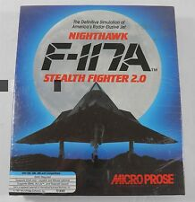 NEW NIGHTHAWK F-117A STEALTH FIGHTER 2.0 MICROPROSE PC GAME IBM FLOPPY (1993)