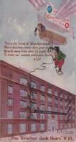 Cracker Jack 1907 Advertising Postcard Bears Up in an Air Ship Card 13 - 5.5 x 3