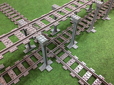 Lego train track compatible - bridge with supports!, custom made - 3d printed!