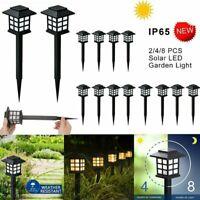 Solar Power Pathway Lights Outdoor Garden Lamp Landscape Lawn Walkway Path Yard