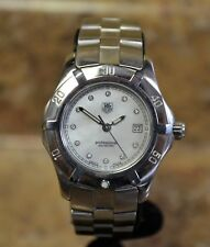 *Tag Heuer WN131H-O Stainless Steel 11 Diamond MOP Dial Ladies Quartz Watch
