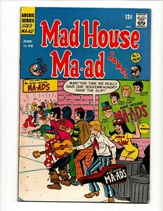 MAD HOUSE MA - AD FREAK OUT # 68 ARCHIE COMICS June 1969 GGA TEEN HUMOR JOKES