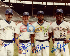 Milwaukee BREWERS Robin Yount Rollie Fingers Cooper Oglivie signed photo reprint