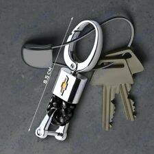 For Chevy Chevrolet Emblem Key Chain Ring BV Style Leather Gift Decoration Black