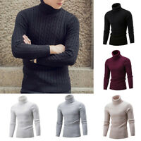 Cable Pullover Knitted Lightweight Sweater Men'S Fit Knit Turtleneck Winter Slim
