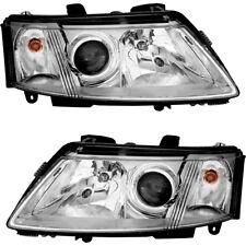 Halogen Headlights Headlight Assembly w/Bulb NEW Pair Set for 03-07 Saab 93 9-3
