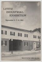 LItitz PA Industrial Exhibition September 1962 Lititz Jaycees Booklet Brochure