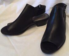 NEW Size 6m LIFESTRIDE ATHENA ANKLE BOOTIE Black Leather Open-Toe SANDAL