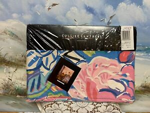 Collier Campbell Twin Flat Sheet Tambourine Multi Floral New/Sealed Pkg.