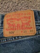 Levi 505 Mens Jeans Size 29 X 30