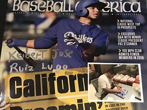 Keibert Ruiz Los Angeles Dodgers Autographed Signed Baseball America FULL NAME