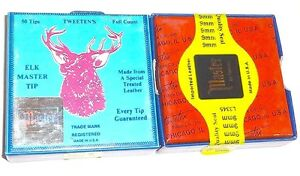 FULL BOX OF ELK MASTER CUE TIPS - 8mm, 8.5mm, 9mm, 9.5mm, 10mm, 11mm, 12mm, 13mm