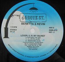 "BENETTA & KEVIN ""Lover, U.R. My Secret"" 12"" vinyl single"