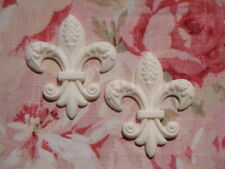 FANCY FLEUR DE LIS (2 pcs.) FURNITURE APPLIQUE ONLAY EMBELLISHMENT
