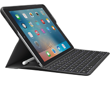"Logitech Create Keyboard Case Smart Connector for iPad Pro 9.7""(not 10.5"") Black"
