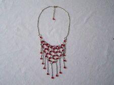 Color plata Collar - collar - rojo