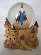 Super Cool Large Rare Dragon Snow Globe castle wizard stairs jewels Musical